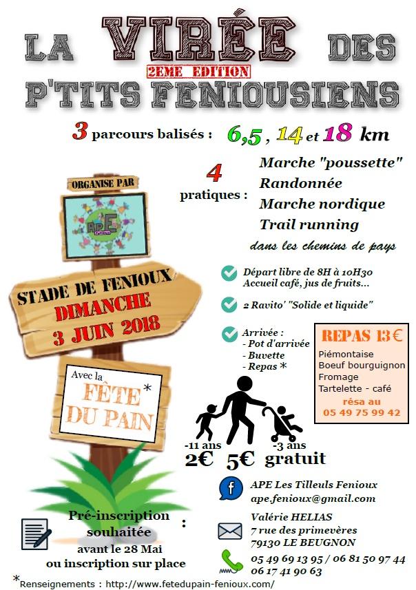 Trace De Trail La Virée Des Ptits Feniousiens 2018